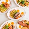 """コンセプトは""""All Day Breakfast""""朝に限らず、昼でも夜でも美味しくてボリューム感のあるブレックファーストメニューを楽しんで頂けます。"""