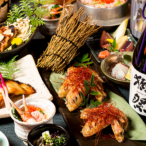 ☆3h飲み放題付VIPプラン☆大山鶏を使用した豪華水炊き鍋など全10品 5500円