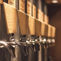 店内醸造のクラフトビールが飲めます♪