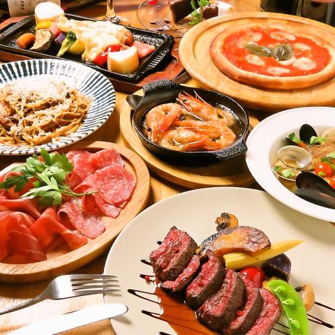 【パーティーコース】ラクレットチーズ含むお料理8品  3300円(税込)