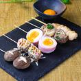 当店オススメの串巻き・串焼きは一本一本丁寧に串打ちをして調理しております!串笑門でしか味わえない多種の串料理をお楽しみ下さい。
