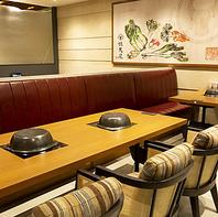 飲み会や食事会にオススメなソファ席