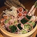 料理メニュー写真レタス豚巻き/アスパラ豚巻き/キムチ豚巻き