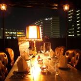5Fフロア:東京タワーを眺めながらプライベートな空間をゆっくりと堪能出来る自慢の席。大テーブルは4名様から6名様対応。雨の場合も、カーテンがあるのでご利用可能。雨でも雰囲気は良いですよ。