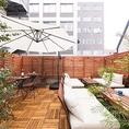 テラス席は12名様から貸切可能です。会社宴会や女子会等でビアガーデンとして利用できます。