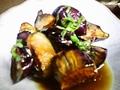 料理メニュー写真焼きナス/揚げナスおろし/きのこホイル/ニラたま/蒸し鶏ポンズ