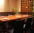 パーテーションで区切られた半個室。6名様までご利用可能です!周りを気にせず、会話を楽しめます♪