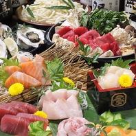北海道の新鮮な海鮮をご堪能頂ける逸品メニューが充実