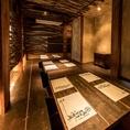 木目が落ち着く個室で貸切宴会はいかがですか?温かい光で演出された和空間で毎朝、三崎の漁港から仕入れた鮮魚をふんだんに使用した和食と日本酒をはじめとした豊富なお酒をお楽しみ頂けます。数量限定の宮城県女川産の生牡蠣やボリューム満点のお刺身 豪華10点盛などオススメメニューを沢山ご用意しております!!