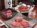 料理メニュー写真7種のお塩で味わう【厳選和牛盛り合わせ】