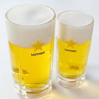 男前生ビールで乾杯☆