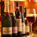 BARなだけに、多種多彩なワイン・ウィスキー・リキュールは勿論、お祝いごとにもぴったりなシャンパンまでご用意してます。