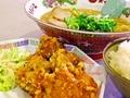 料理メニュー写真カラアゲ定食