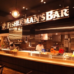 ◆オープンカウンター◆ 海鮮が並び、ライブ感満載!新鮮な魚介類を調理している様子を御覧頂けます★銀座・新橋での貸切宴会、街コン、結婚式の二次会など、ご相談が必要な宴会もお任せください。