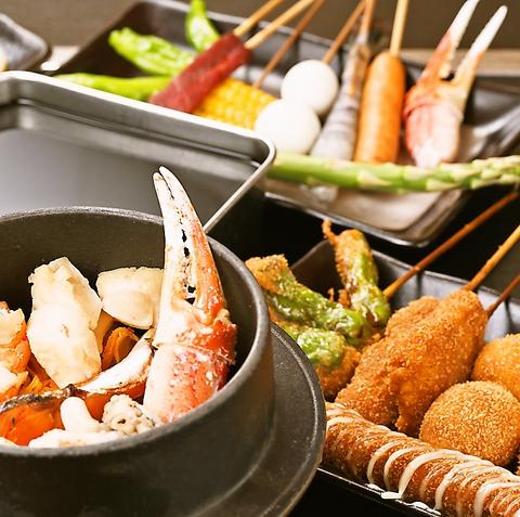 自慢のカツは揚げたてサクサク。本格的な新世界の串カツが岸和田で食べられる!
