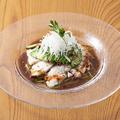 料理メニュー写真水晶チキンとアボカドの山椒ソース
