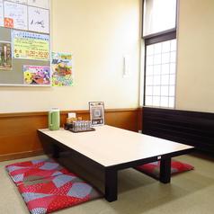 4名様用お座敷席は4卓ご用意!まったりとくつろげるお席です♪お子様にもおすすめ!