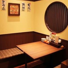 落ち着いた空間でゆっくりお食事していただけますね♪(テーブル個室は、2名様用・4名様用・6~8名様用がございます)