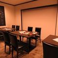 半個室としても利用可能なテーブル席◎最大12名様まで収容可能です!