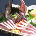 瀬戸内鮮魚のお刺身も日替わりでご用意