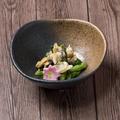 料理メニュー写真あさりと菜の花の辛子醤油和え