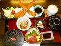 料理メニュー写真大海老フライ御膳【お刺身・ご飯・赤出汁・茶碗蒸し・小鉢一ヶ・漬物・アイス 付】