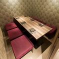 仲間内の飲み会や会社宴会、ご接待などシーンに合わせてお部屋をご用意致します。ご接待や大切なお集まりには、特に静かなお部屋をご用意致します。こちらは人気のテーブル席です!4名様~6名様までご利用いただけますので少人数での宴会やちょっとした集まりにも最適なお席と空間!ご予約を承っておりますのでお気軽に♪