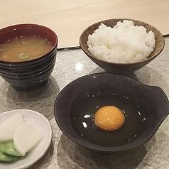 料理メニュー写真T.K.G 味噌汁・漬物付き
