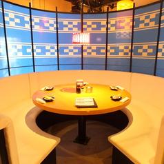 人気の円型のテーブル個室(2名~6名)