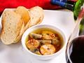 料理メニュー写真マッシュルームとエビのアヒージョ