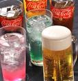 ソフトドリンクバー付の食べ放題は大人気!アルコール飲み放題もご用意してます!