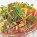 料理メニュー写真海の幸たっぷりカルパッチョ