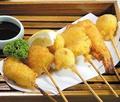 料理メニュー写真串盛り合わせ(5本)