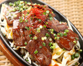 料理メニュー写真牛ハラミの鉄板焼き