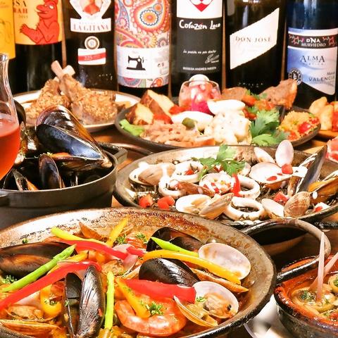 経験豊富なシェフによる本格スペイン料理☆
