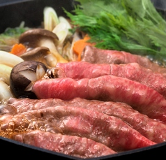 並コース【すき焼き120分食べ放題】牛肩バラ・豚ロース・豚バラ・鶏ももスライス