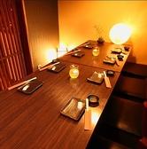 半個室のテーブル席は人気!ご宴会にお薦め。少人数ご宴会にもぴったりです!!