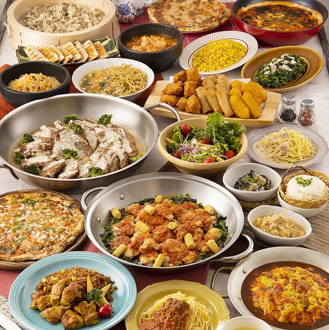[土日祝ディナー]フェアブッフェ♪メインやデザートなど全てのメニュー食べ放題⇒2290円(税込)