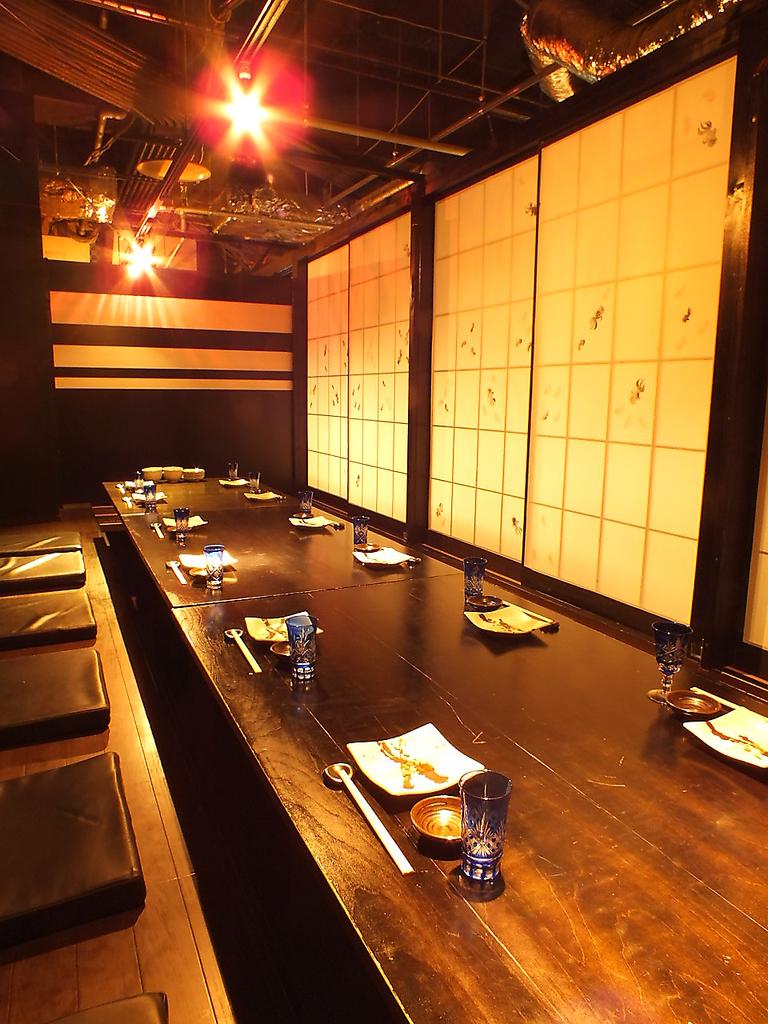 最大36人までのご宴会にご対応できる掘りごたつ個室席。各種ご宴会はお早目のご予約がおすすめ!!