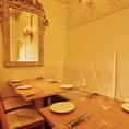 【レストランフロア】落ち着いた10名席は様々なシーにお使いいただけます♪