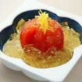 料理メニュー写真出汁トマト ジュレ掛け