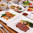 ランチもディナーもコース有♪オーストラリア産ランプステーキ、季節のオードブル、彩りミックス野菜、付け合せ温野菜、ガーリックライスなど1800円~のディナーコース★ 本日のお魚料理料理、ランプステーキ、デザートなど2800円のランチコース★ 飲み放題メニューも有♪昼宴会でも夜宴会でも是非ご利用下さいませ。