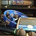 DAM機&タンバリン完備!!カラオケを盛り上げるアイテムを多数ご用意しています。DAMの最新機器を取り揃えております!