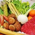 【季節のおすすめ☆】お肉や野菜も鮮度抜群!山の幸をお届け!岩生では、自然豊かな地域で獲れる山菜やきのこ、野菜などを季節に合わせて仕入れ&アレンジします。コースはもちろん、アラカルトもこだわりが詰まったメニューを多数ご用意!