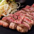 料理メニュー写真牛ロースのグリルステーキ