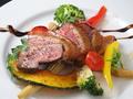 料理メニュー写真合鴨のロースト オレンジ&カンパリソース