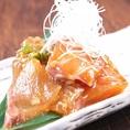 【大分】リュウキュウ…新鮮な魚の切身を、醤油、酒、ミリン、ショウガ、ゴマ他を合わせたタレに漬け込んでからいただく大分の郷土料理です。