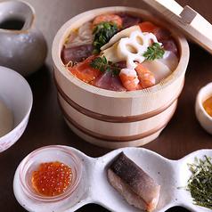 料理メニュー写真花ごころの海鮮ひつまぶし~濃厚ウニ醤油でいただく
