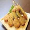 【長崎】雲仙ハム串揚げ…肉はもちろん、脂の甘味が合わさって、上質な味わいを醸し出しています。