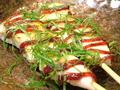 料理メニュー写真ささみわさび/ささみ照焼きチーズ/ささみ梅しそ/ささみ明太子マヨネ―ズ(各2本)